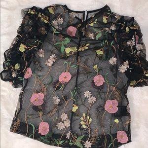 Organza Floral top